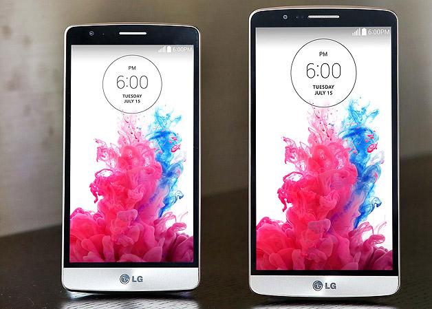 LG G3 S (ซ้าย) กับ LG G3 (ขวา)