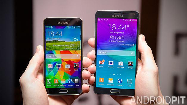เปรียบเทียบ Samsung Galaxy Note 4 กับ S5