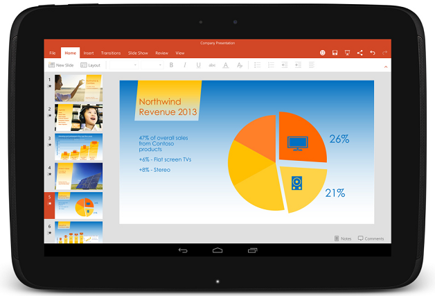 Microsoft Office Mobile สำหรับ Android