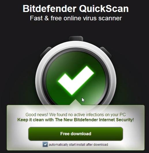 สแกนไวรัสออนไลน์ Bitdefender7