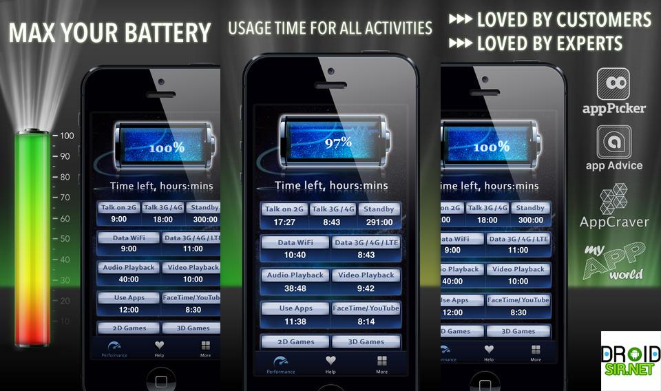 แอพประหยัดแบต Battery Life Magic droidsir.net