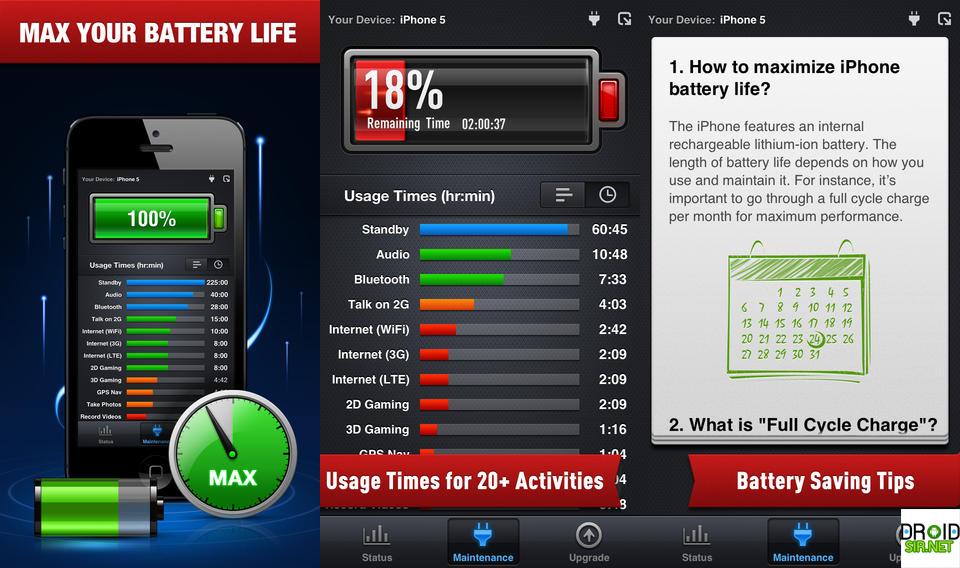 แอพประหยัดแบตBattery Power Free Droidsir.net