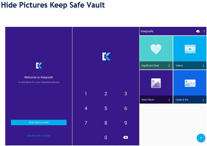 แอพซ่อนภาพ Hide Picture Keep Safe Vault